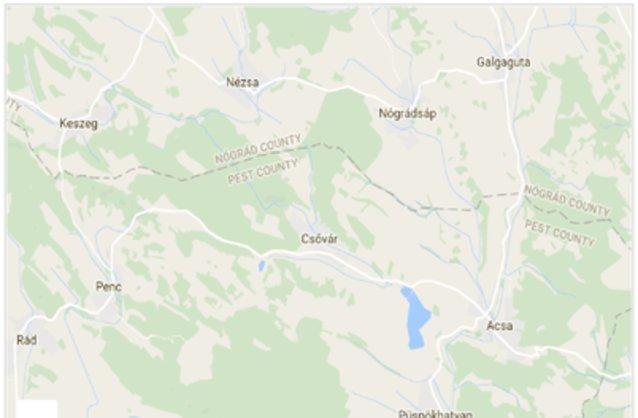Statikus Csővár térképe
