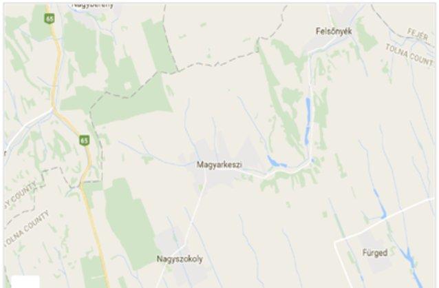 Statikus Magyarkeszi térképe