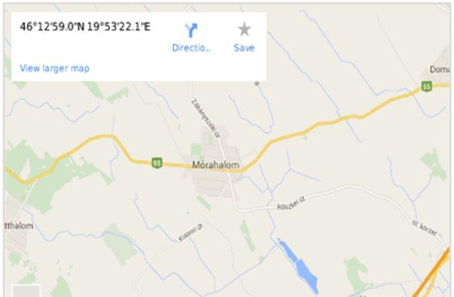 Statikus M�rahalom térképe