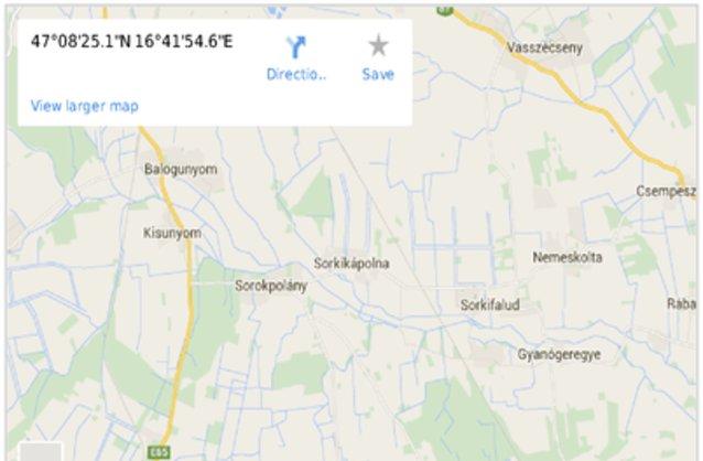Statikus Sorkikápolna térképe