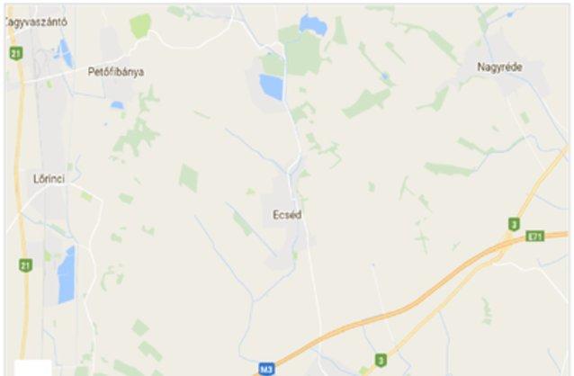 Statikus Ecséd térképe