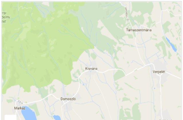 Statikus Kisnána térképe