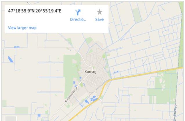karcag térkép Karcag ingatlan hirdetések, térkép   ingyenes ingatlan hirdetés  karcag térkép