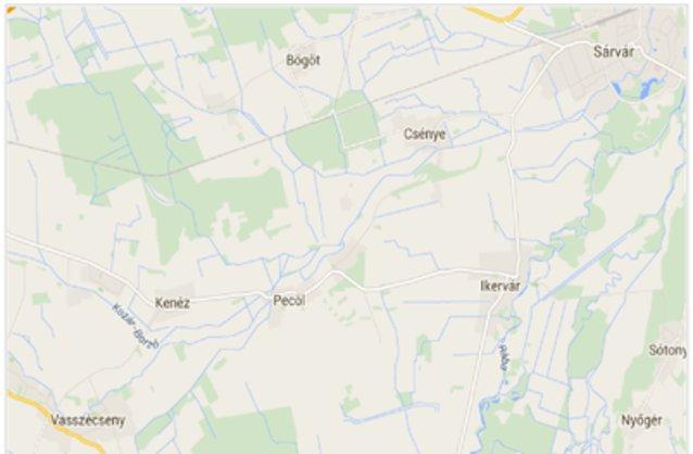Statikus Megyehid térképe