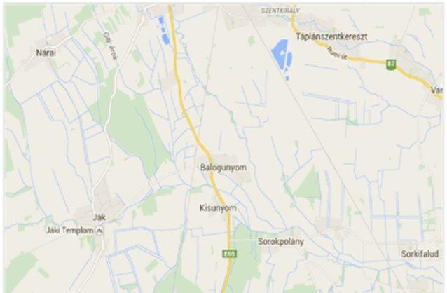Statikus Balogunyom térképe