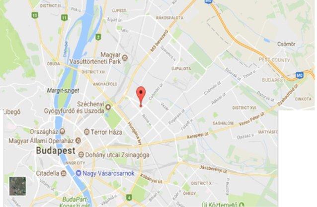 Statikus Budapest XIV. kerület térképe