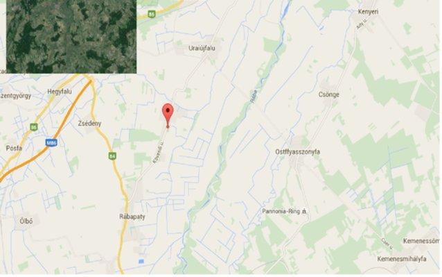 Statikus Jákfa térképe