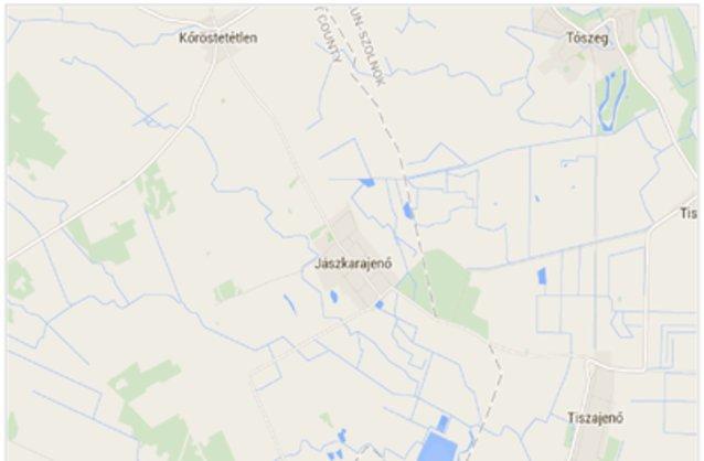 Statikus Jászkarajenő térképe