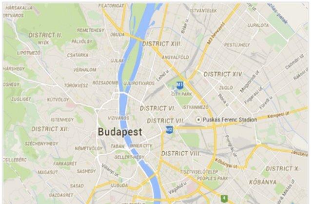 Statikus Budapest VI. kerület térképe
