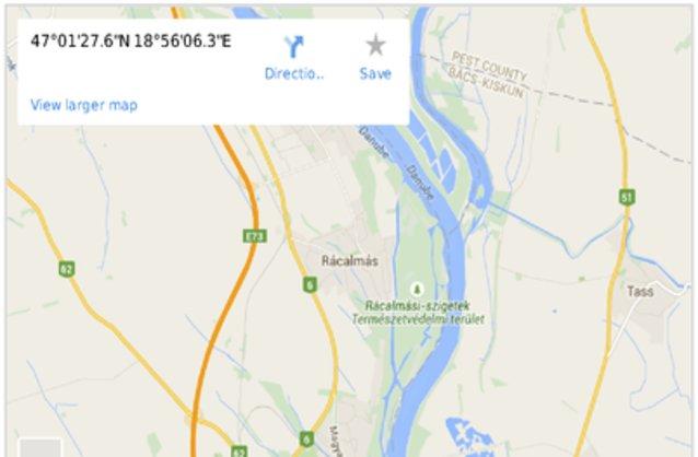 rácalmás térkép Rácalmás ingatlan hirdetések, térkép   ingyenes ingatlan hirdetés  rácalmás térkép