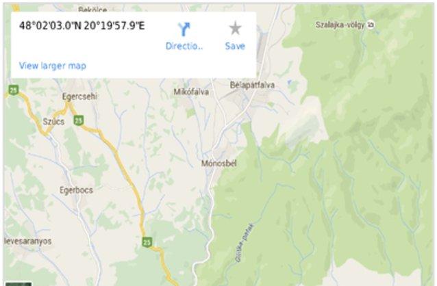 Statikus Mónosbél térképe