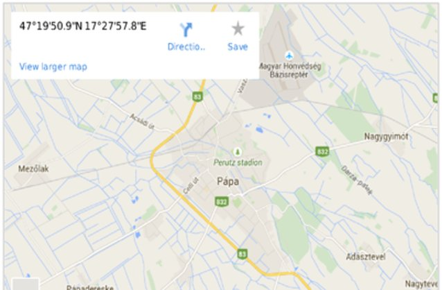 pápa térkép Pápa ingatlan hirdetések, térkép   ingyenes ingatlan hirdetés feladás pápa térkép