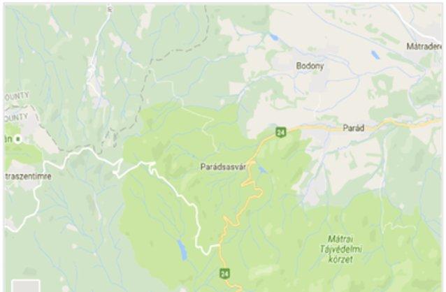 Statikus Parádsasvár térképe