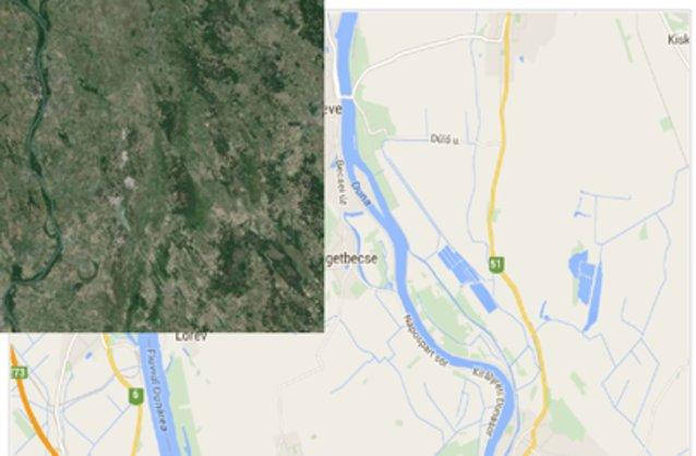 Statikus Szigetbecse térképe