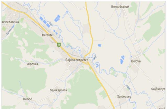 sajószentpéter térkép Sajószentpéter ingatlan hirdetések, térkép   ingyenes ingatlan  sajószentpéter térkép