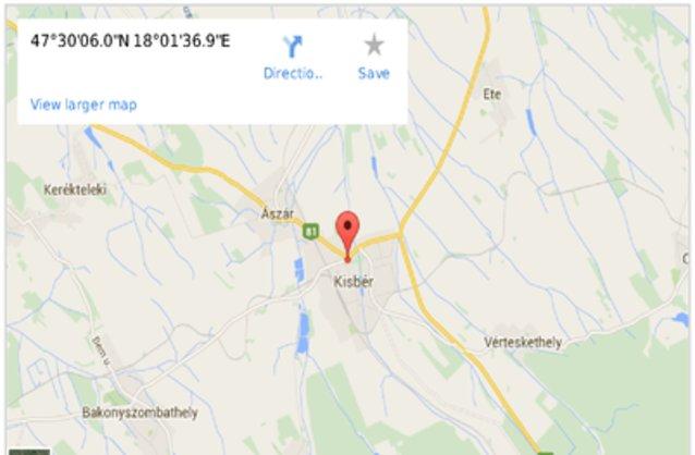 kisbér térkép Kisbér ingatlan hirdetések, térkép   ingyenes ingatlan hirdetés  kisbér térkép